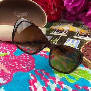 {Coach} Classic Brown Gradient Sandra Sunnies